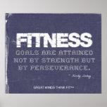 Fitness Goals in Ripped Denim Print
