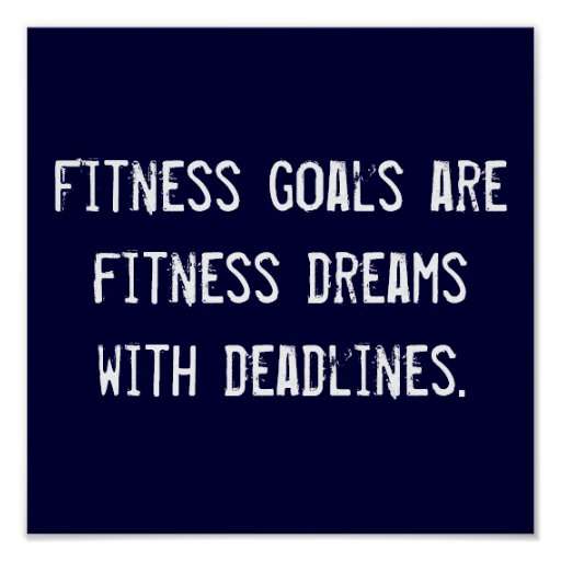 Fitness Goals Poster
