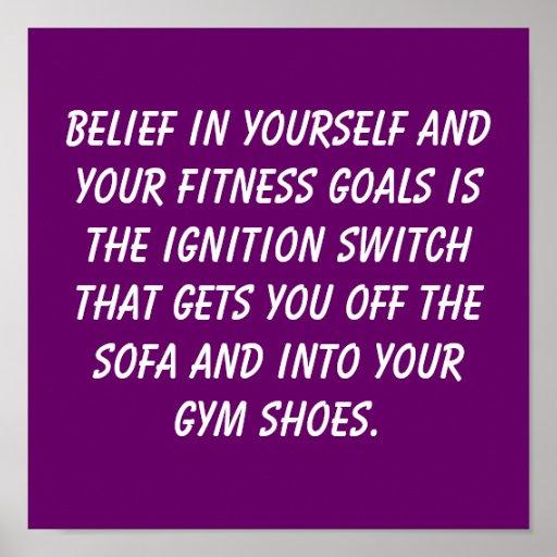 Fitness Goals Poster