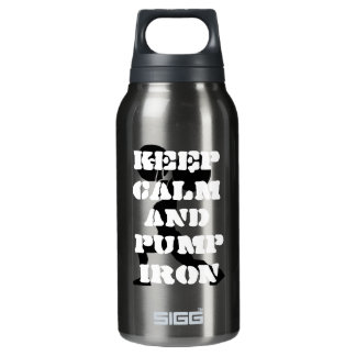 Fitness GYM keep calm and pump iron Insulated Water Bottle