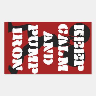 Fitness GYM keep calm and pump iron Rectangular Sticker