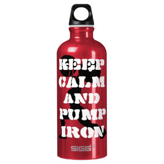 Fitness GYM keep calm and pump iron Water Bottle