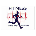 fitness icon pack of chubby business cards
