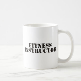 Fitness Instructor/black Coffee Mug