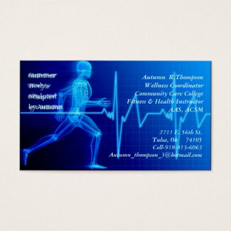 Fitness Instructor Business Card