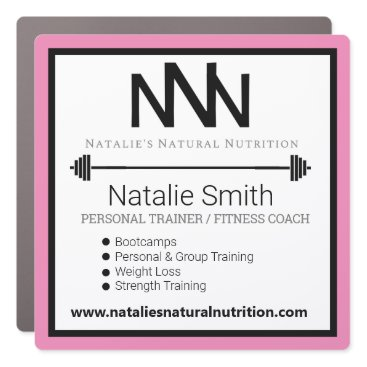 Fitness Instructor Personal Trainer Car Magnet