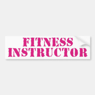 Fitness Instructor/Pink Car Bumper Sticker