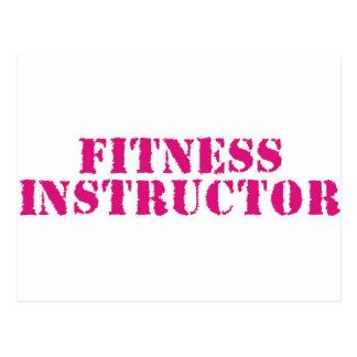 Fitness Instructor/Pink Postcard
