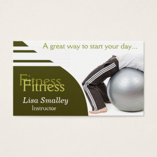 Fitness Instructor    Professional Business Card
