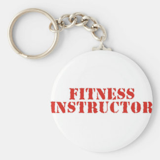Fitness Instructor/Red Basic Round Button Keychain