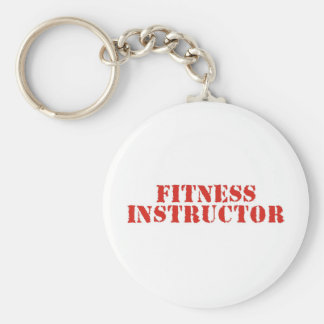 Fitness Instructor Red Keychains