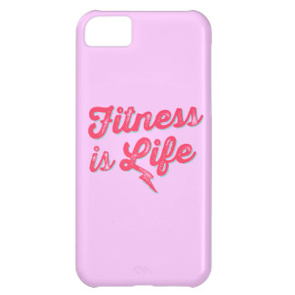 Fitness is Life Hot Pink Fitness Motivation iPhone 5C Cover