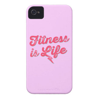 Fitness is Life Hot Pink Fitness Motivation iPhone 4 Case-Mate Case