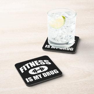 Fitness Is My Drug - Gym Workout Motivational Beverage Coaster