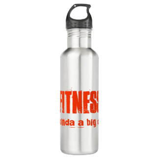FITNESS its kinda a big deal 24oz Water Bottle
