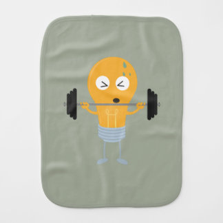 Fitness light bulb with weight burp cloth
