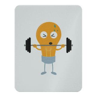 Fitness light bulb with weight Z1zu3 Card