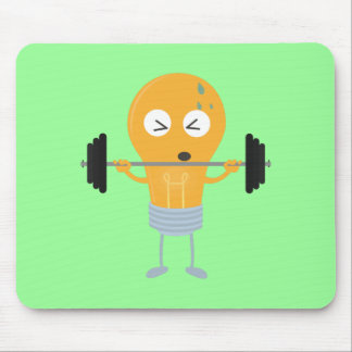 Fitness light bulb with weight Z1zu3 Mouse Pad