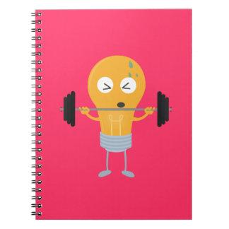 Fitness light bulb with weight Z1zu3 Spiral Notebook
