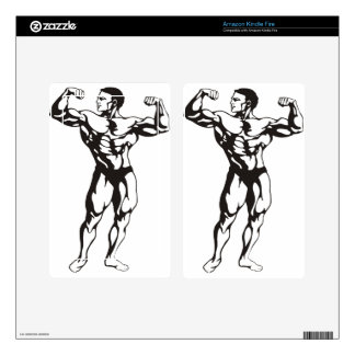 Fitness Man Muscles Kindle Fire Decal
