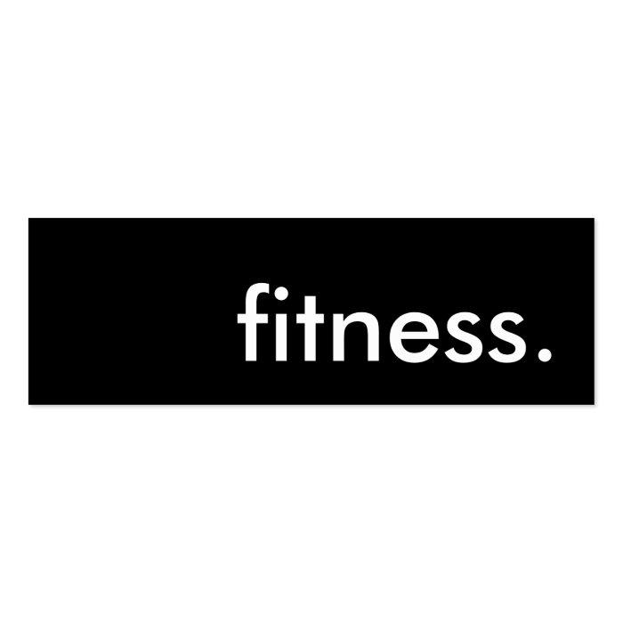 fitness. mini business card