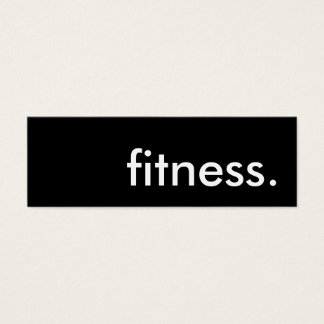 fitness. mini business card