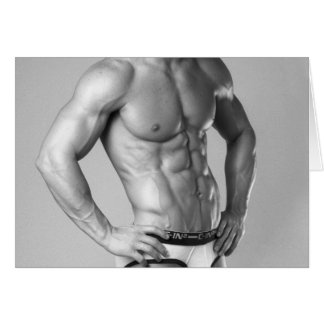 Fitness Model Abs Notecard #100