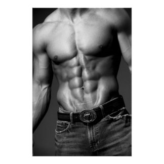 Fitness Model Abs Poster #9