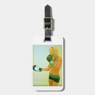fitness model boxing tag luggage tags