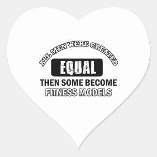 Fitness Model designs Heart Sticker
