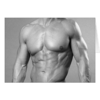 Fitness Model Notecard #44 Greeting Card