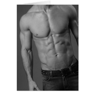 Fitness Model Notecard #4 Greeting Cards