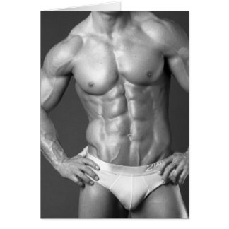 Fitness Model Notecard #5 Stationery Note Card