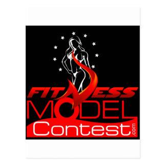 Fitness-Model Postcard