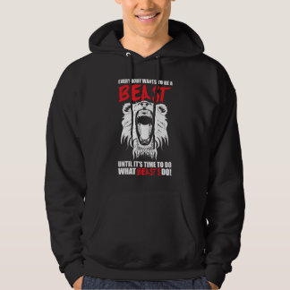 Fitness Motivation - Beast Hoodie