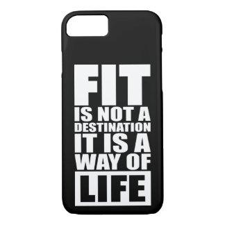 Fitness Motivation - Fit Is Not A Destination iPhone 7 Case