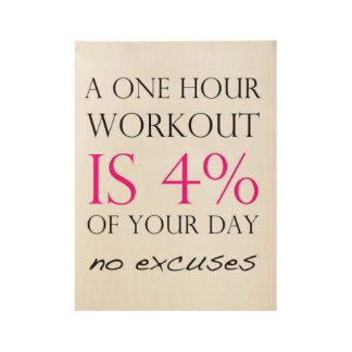 Fitness Motivation Wood Poster