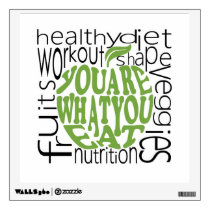 Fitness motivational poster wall decal