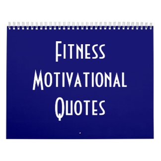 Fitness Motivational Quotes Calendar