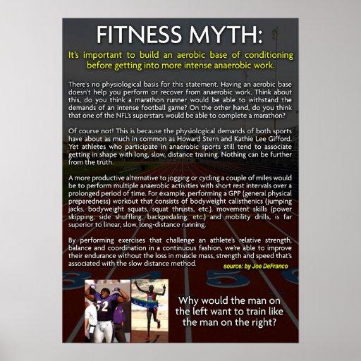fitness myth aerobic vs anaerobic training print zazzle. Black Bedroom Furniture Sets. Home Design Ideas