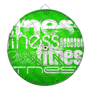 Fitness; Neon Green Stripes Dartboard With Darts