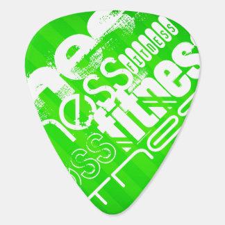 Fitness; Neon Green Stripes Guitar Pick
