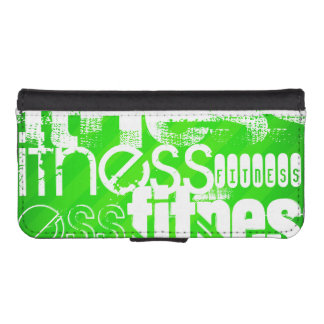 Fitness; Neon Green Stripes Phone Wallet Case