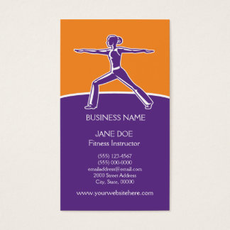 Fitness or Dance Instructor Business Card Template