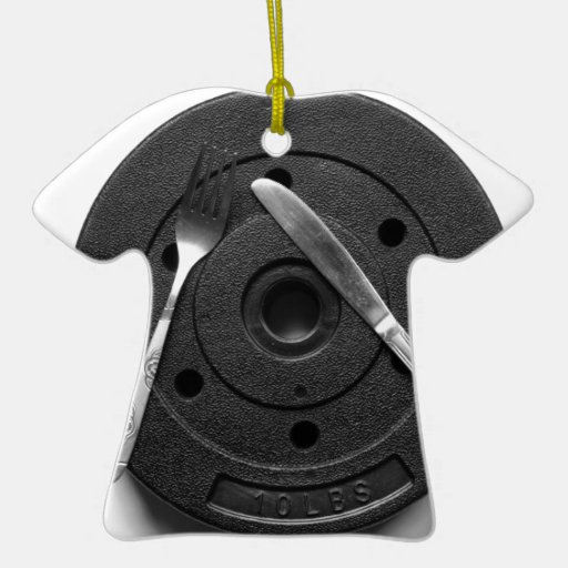 Fitness Double-Sided T-Shirt Ceramic Christmas Ornament