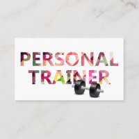 Fitness Personal Trainer Geometric Mosaic Text Business Card