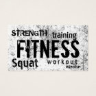 Fitness Personal Trainer Grunge Loyalty Punch Business Card