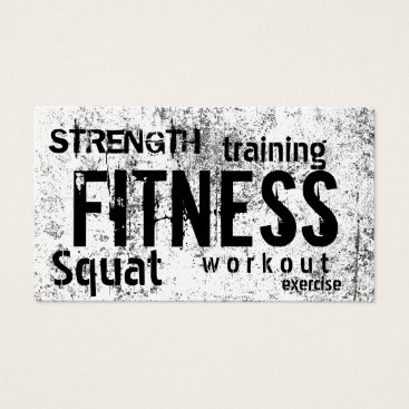 cardfactory Fitness Personal Trainer Grunge Loyalty Punch Business Card