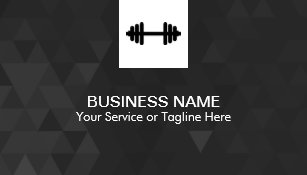 Fitness business cards 1500 fitness business card templates fitness personal trainer modern geometric business card colourmoves Images