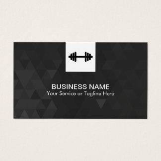 Fitness Personal Trainer Modern Geometric Business Card